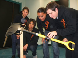 Te Ropu Awhina members investigate the balance point