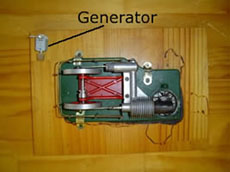 Sterling engine with a generator