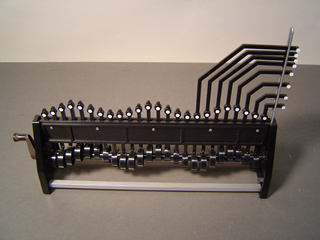 The hand cranked wave machine.