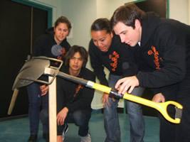 Te Ropu Awhina members investigate the balance point